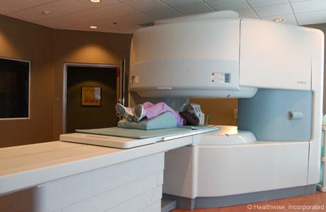 Open MRI machine